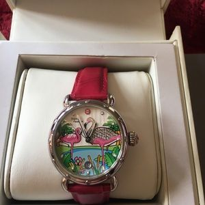 Michele Limited Edition Flamingo Watch